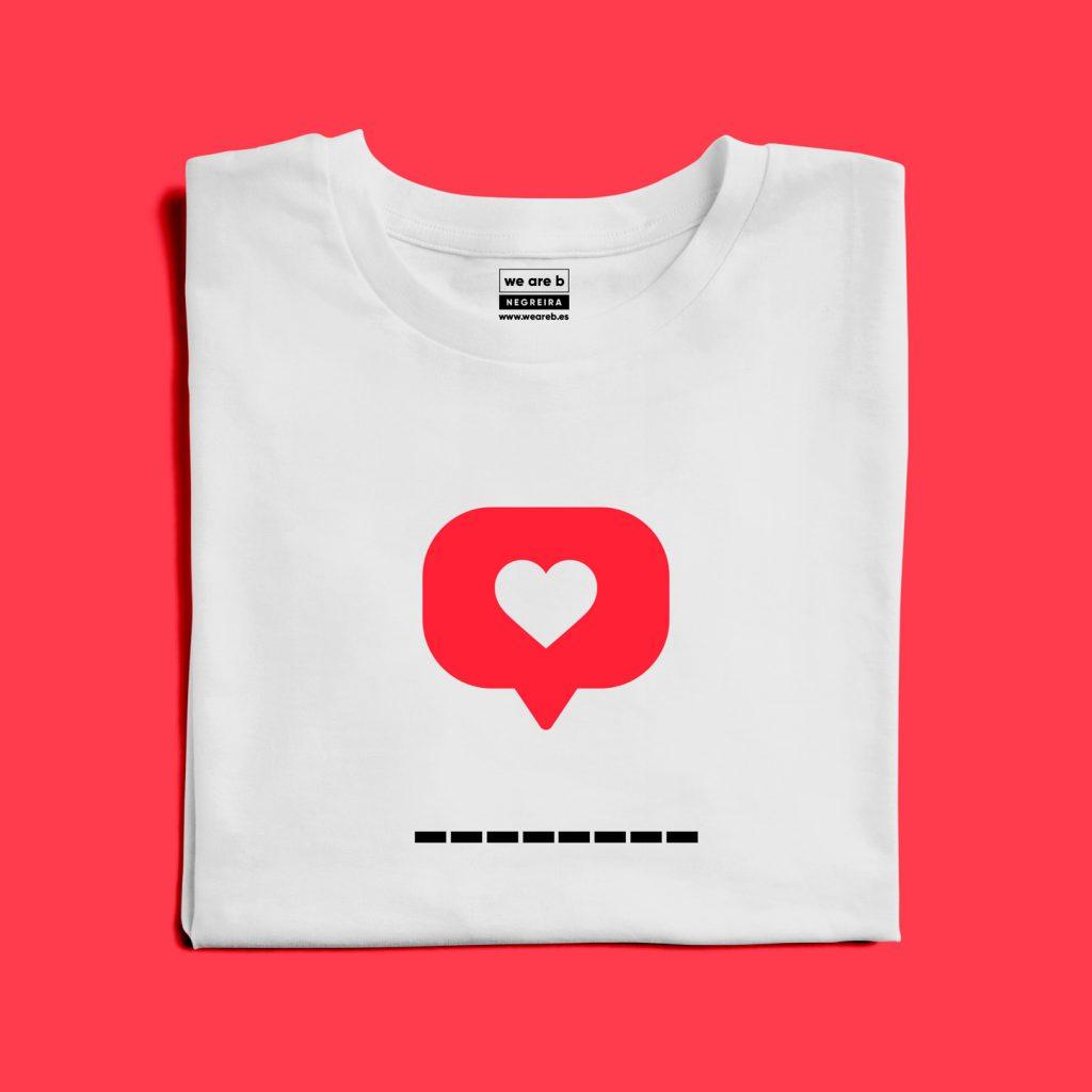 Camiseta Like para personalizar con lo que más te guste